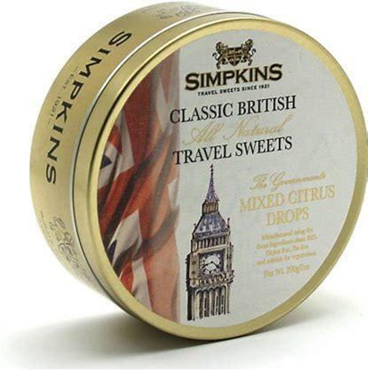 Simpkins Big Ben Citrus Travel Sweets Tin