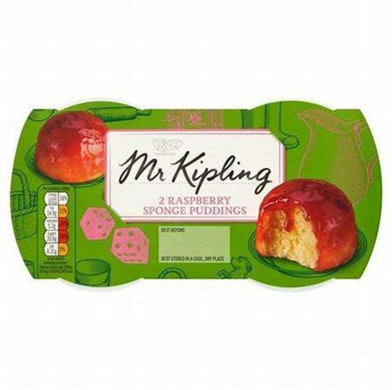 Mr. Kipling - Raspberry Sponge Pudding, 2x95g
