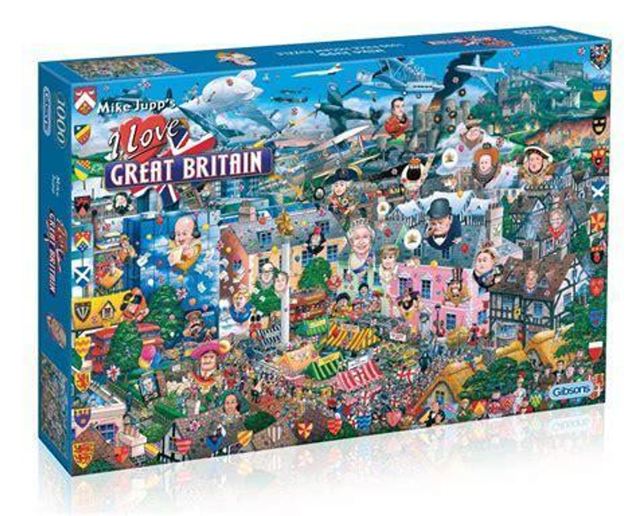 Gibsons - I Love Great Britain 1000 Piece Jigsaw Puzzle