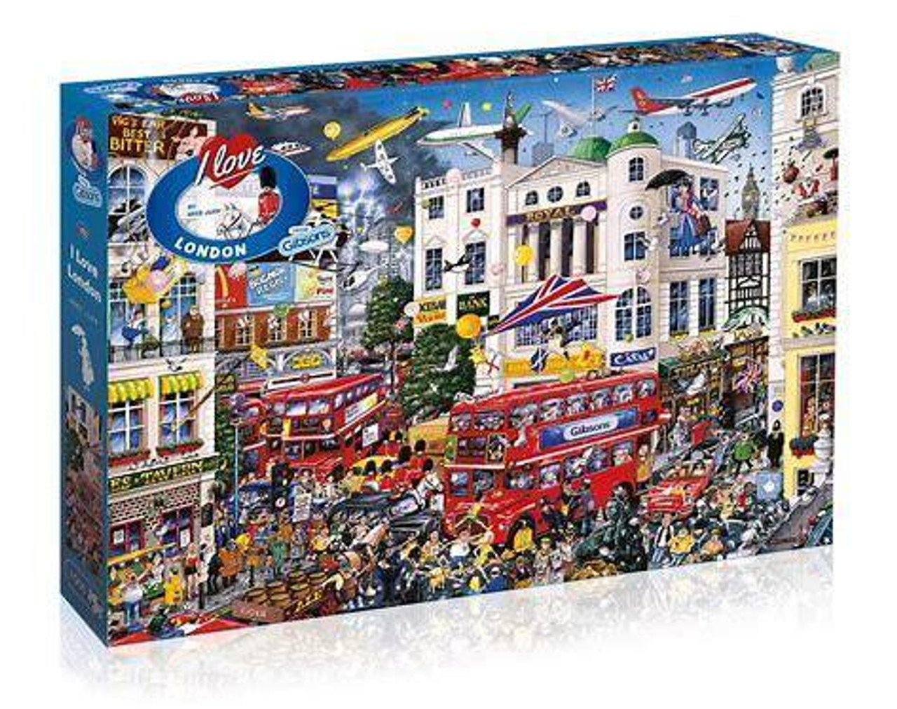 Gibsons - I Love London 1000 Piece Jigsaw Puzzle