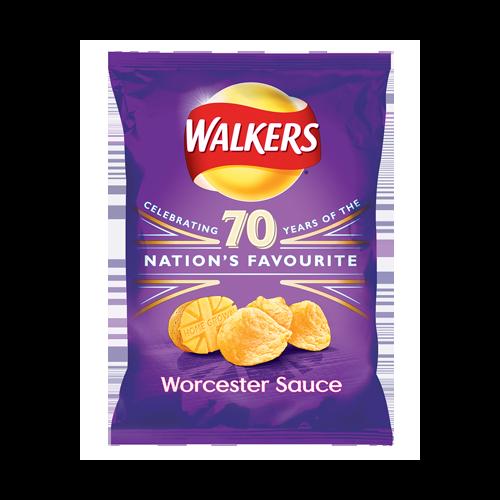Walkers Crisps - Worcester Sauce, 32.5g