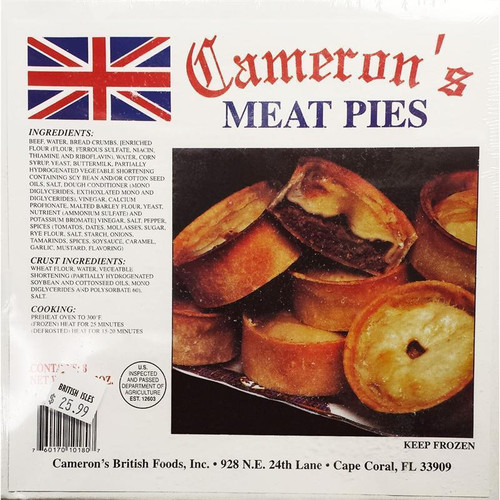 Cameron's Meat Pies, 4 pk