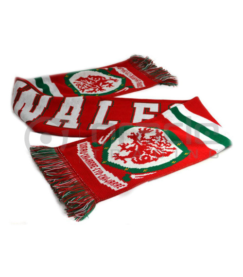 Wales Rugby Knitted Scarf