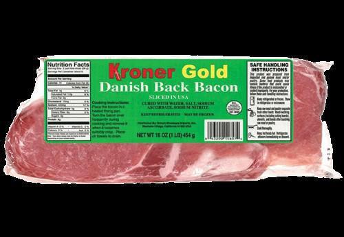 Kroner Gold - Danish Bacon, 1lb