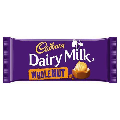 Cadbury - Dairy Milk Whole Nut, 120g