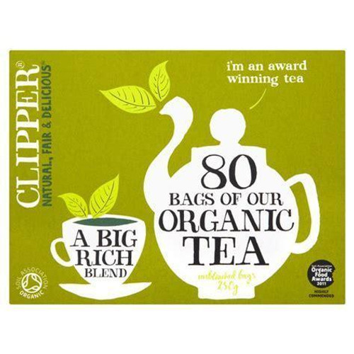 Clipper Organic Tea - 80 Unbleached Bags 250g