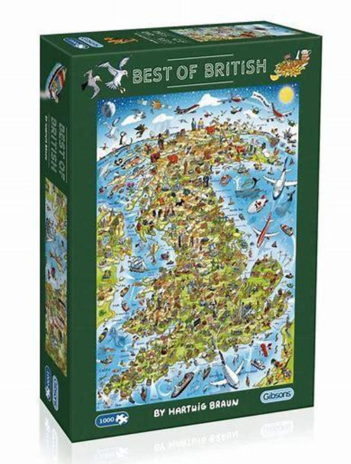 Gibsons - Best of British 1000 Piece Jigsaw Puzzle
