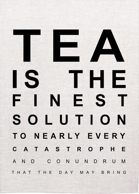 High Tea, Tea is the finest solution, Printed Tea Towel, Tea06_KT