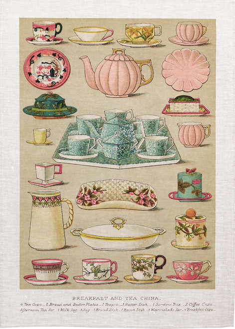 High Tea, Breakfast and tea, Printed Tea Towel, Tea43_KT