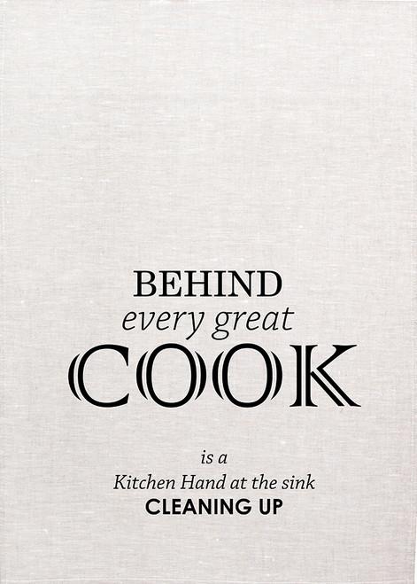 High Tea, Behind every cook, Printed Tea Towel, HT13_KT