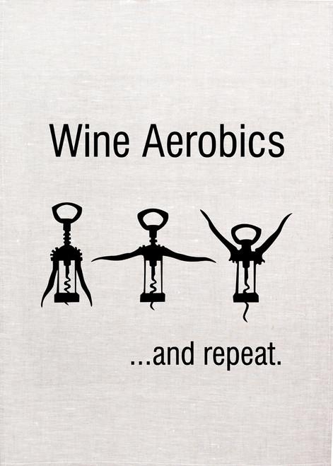 Wine, aerobics Printed Tea Towel, Wine113_KT