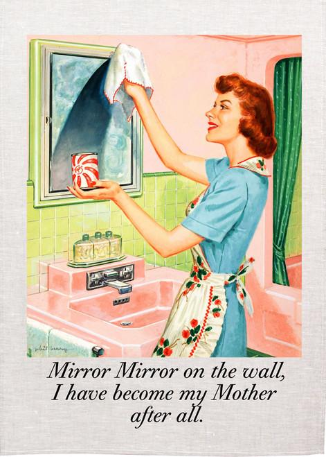 Retro house wife Printed Tea Towel, Mirror Mirror on the wall, RETK05_KT