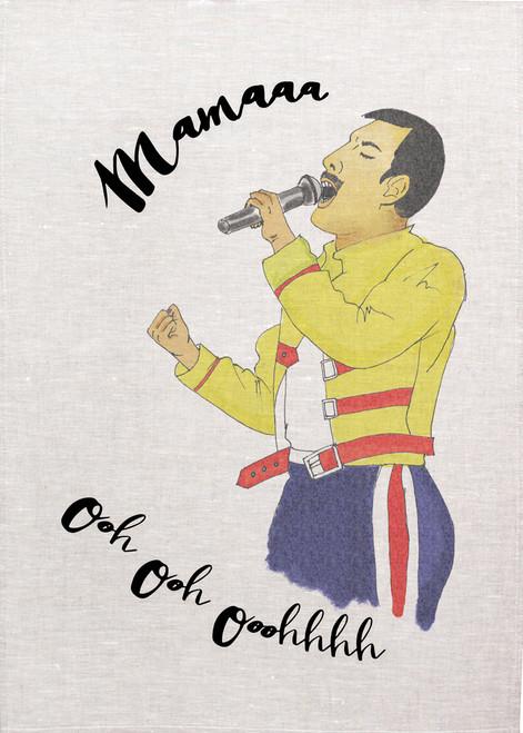 Mamaaa ooh ooh ooohhhh tea towel,  Pop star singing for Mum on tea towel, Made in Australia, Mum 29_KT