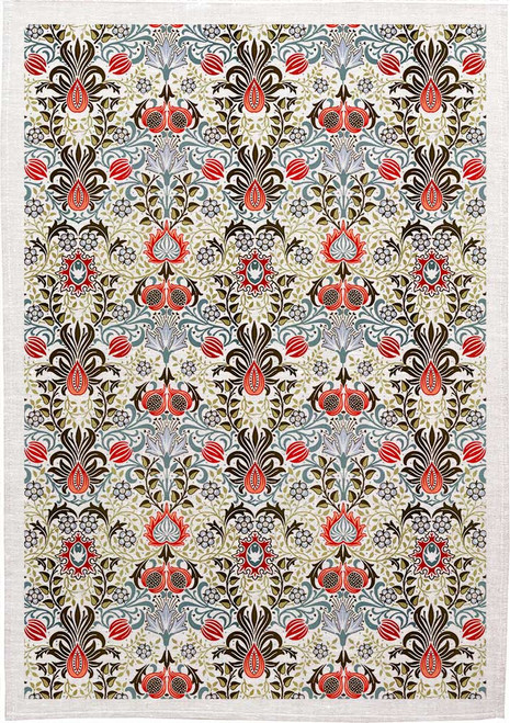 William Morris Tea Towel Floral WM03