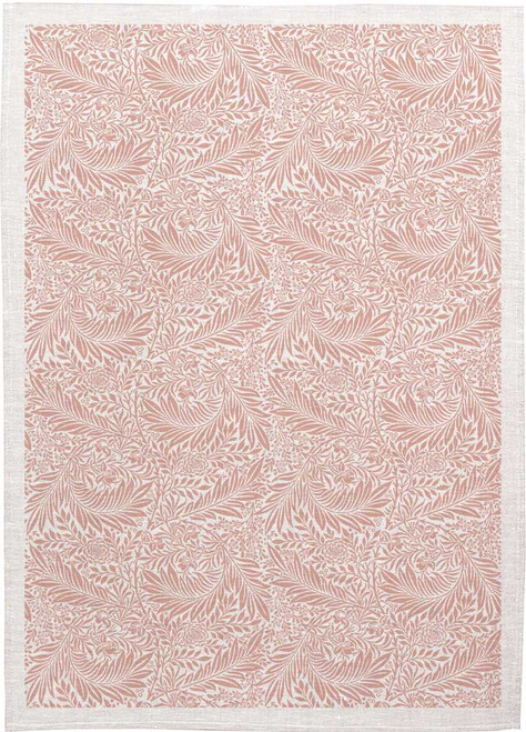 William Morris Tea Towel WM04 Pink leaves, Made in Australia