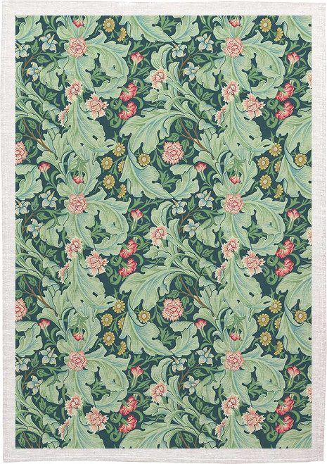 William Morris Tea Towel WM05 floral, Made in Australia