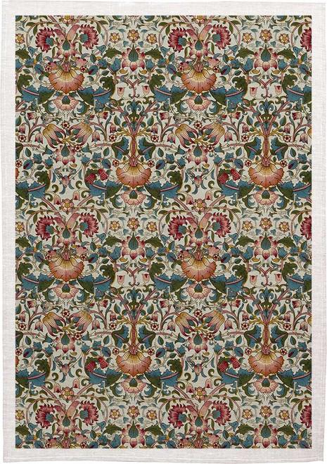 William Morris Tea Towel WM08 floral, Made in Australia
