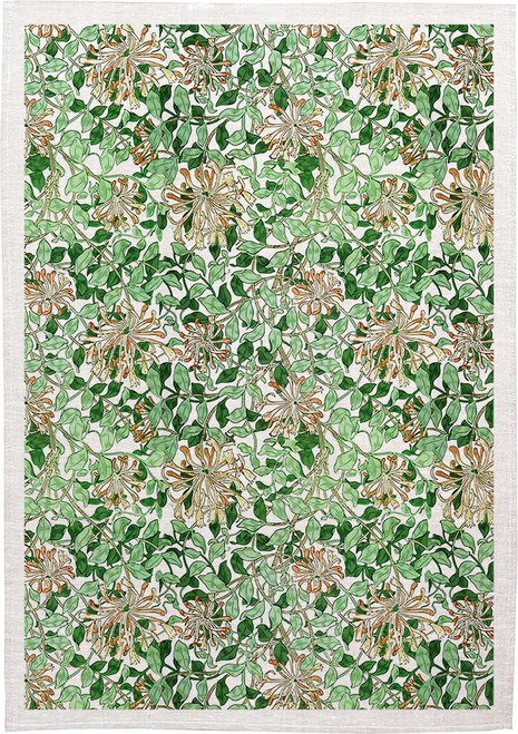 William Morris Tea Towel WM09 floral pattern, Made in Australia