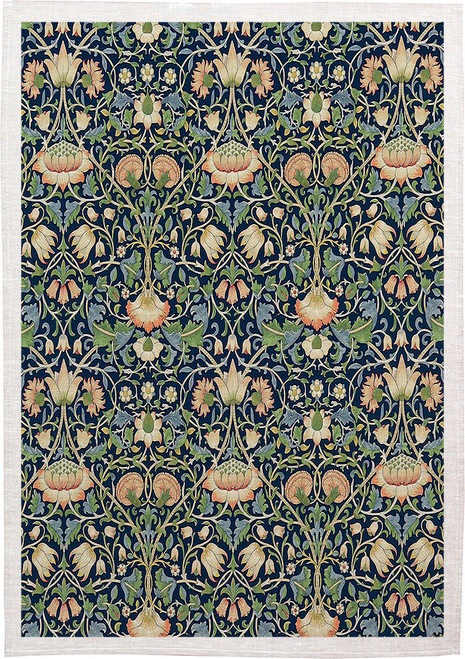 William Morris Tea Towel WM16 floral pattern, Made in Australia