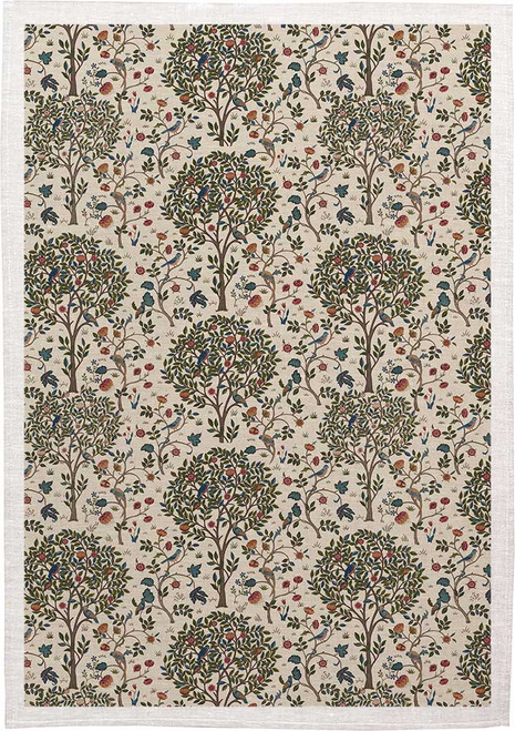 William Morris Tea Towel WM19 floral pattern, Made in Australia