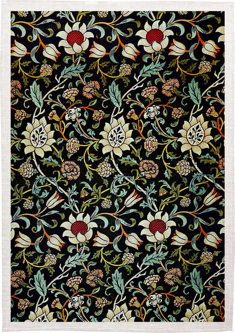 William Morris Tea Towel WM22 floral pattern, Made in Australia