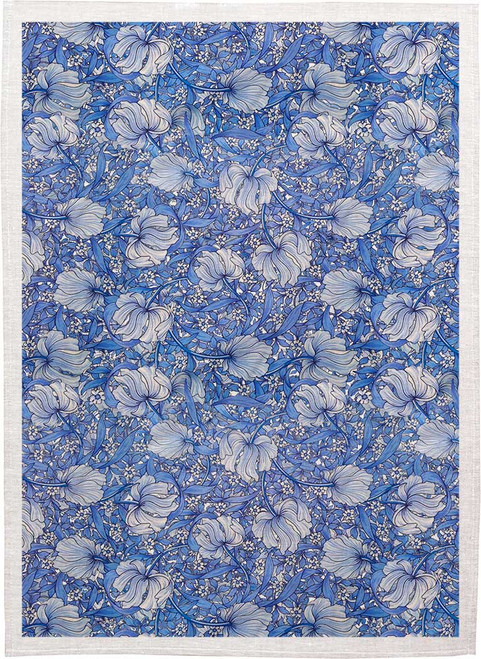William Morris Tea Towel WM28 floral pattern, Made in Australia