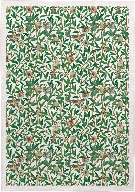 William Morris Tea Towel WM37 william bough vine, Made in Australia