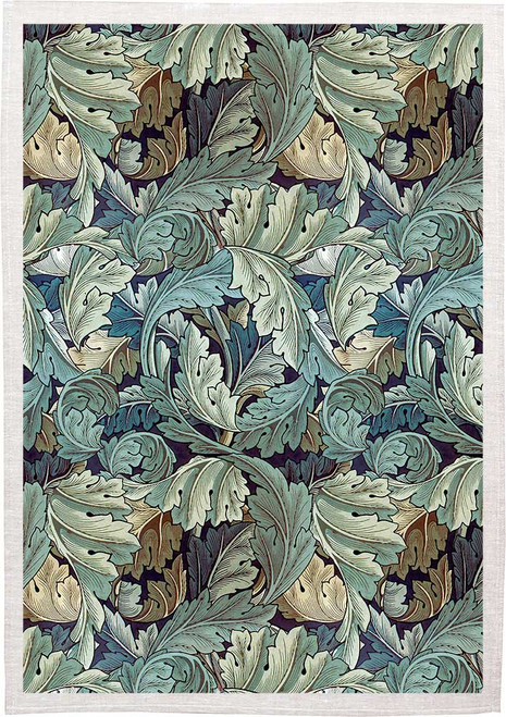William Morris Tea Towel acanthus, Made in Australia