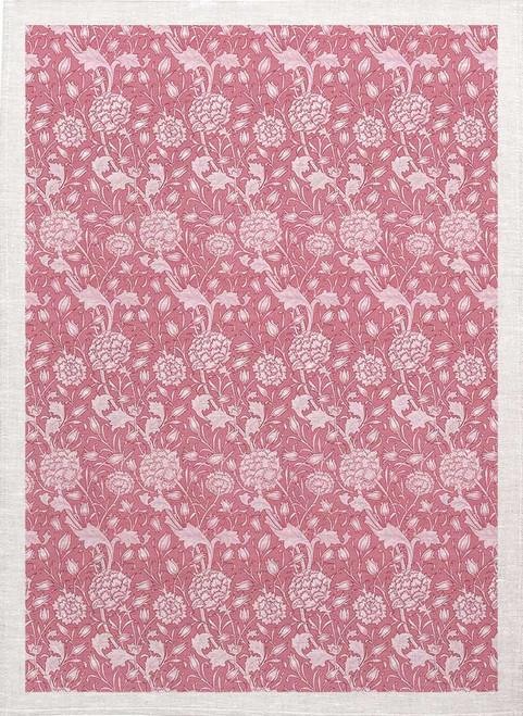 William Morris Tea Towel WM78 floral pink pattern Made in Australia