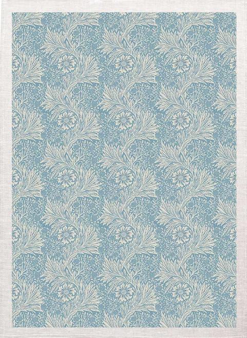 William Morris Tea Towel WM81 floral pattern, blue background Made in Australia