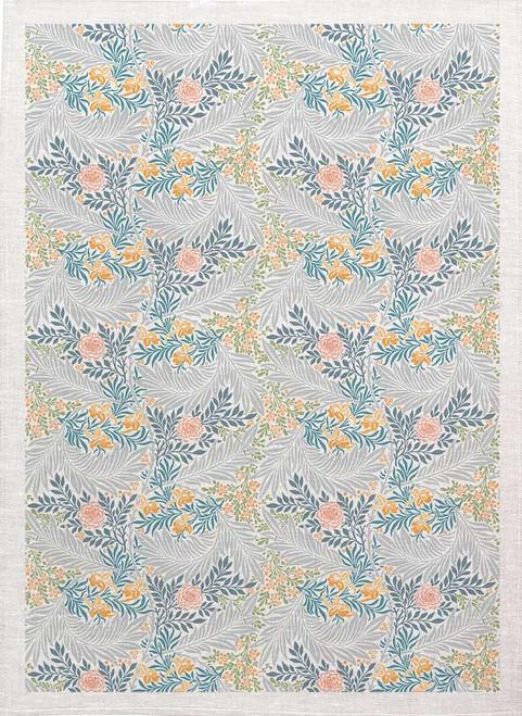 William Morris Tea Towel WM84 leaf pattern colour, Made in Australia