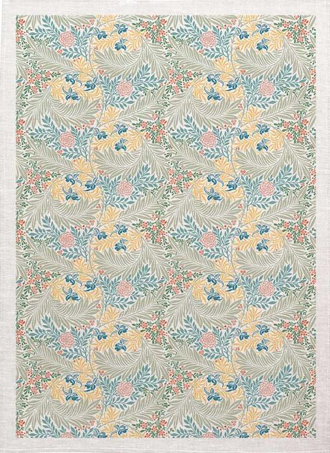 William Morris Tea Towel WM85 leaf pattern colour, Made in Australia