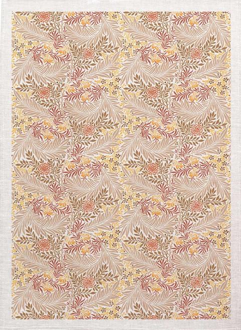 William Morris Tea Towel WM86 leaf pattern colour, Made in Australia