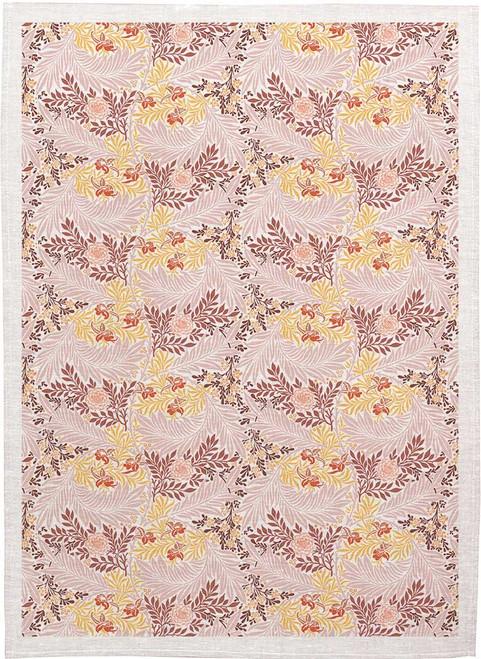 William Morris Tea Towel WM87 leaf pattern  in colour, Made in Australia