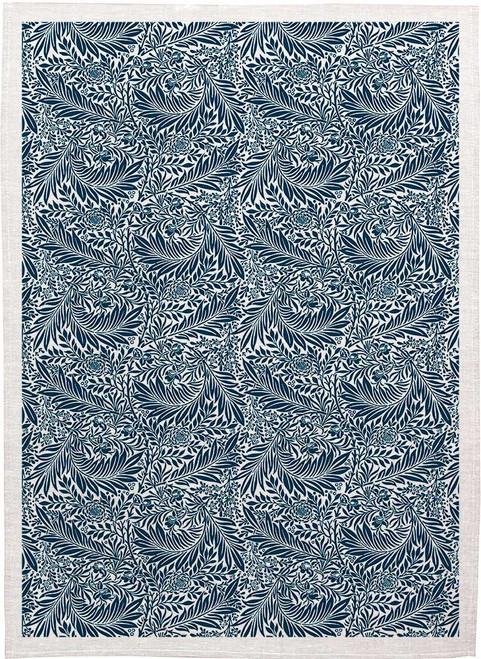 William Morris Tea Towel WM88 leaf vine pattern navy blue Made in Australia