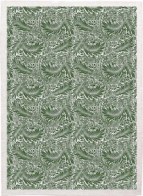 William Morris Tea Towel WM89 leaf vine pattern green Made in Australia