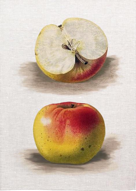 Apple art on tea towel, Made in Australia
