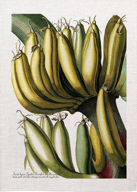 Banana bunch illustration on tea towel, Made in Australia