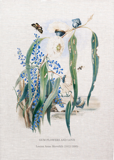 Blue Gum flowers and leaves illustrated by Lousia Ann Meredith( 1812-1895), Made in Australia