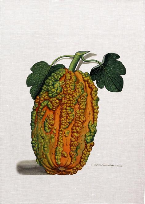 Vine vegetable illustration printed on tea towel, made in Australia