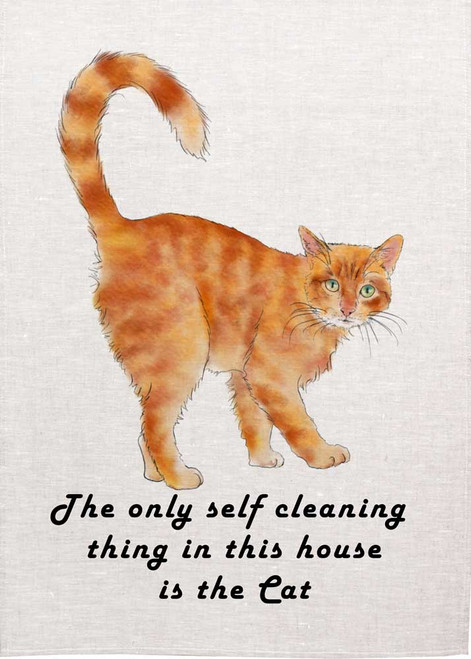 The only self cleaning thing in this house is the cat -Teatowel