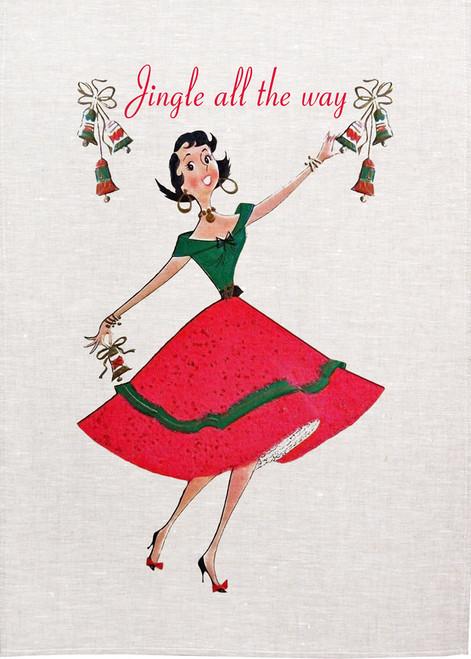 Jingle All The WayChristmas Tea Towel