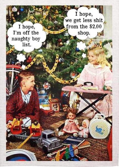 I Hope  Christmas Tea Towel