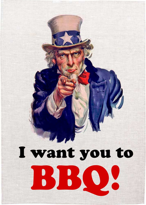 I want you to BBQ, Made in Australia Teatowel