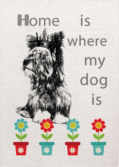 Home is where my dog is, Made in Australia Teatowel