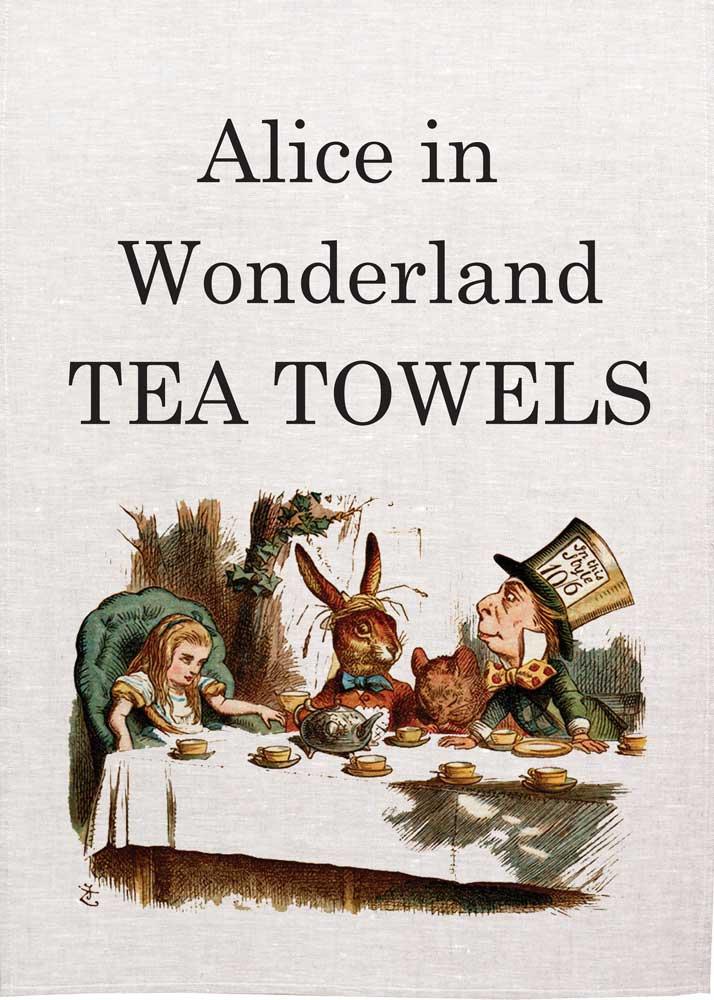 Alice in wonderland tea towels