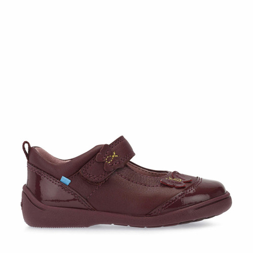 Start-Rite Swing, wine leather/patent girls riptape pre-school shoes 1696_1