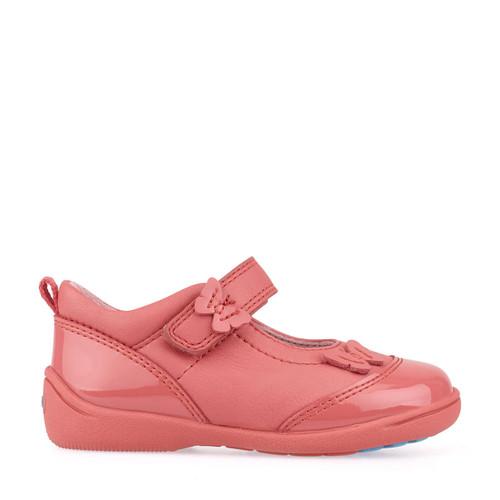 Start-Rite Swing, pink leather/patent girls riptape pre-school shoes 1696_6
