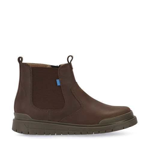 Start-Rite Boost, Brown Leather Zip-up Boots 1701_0