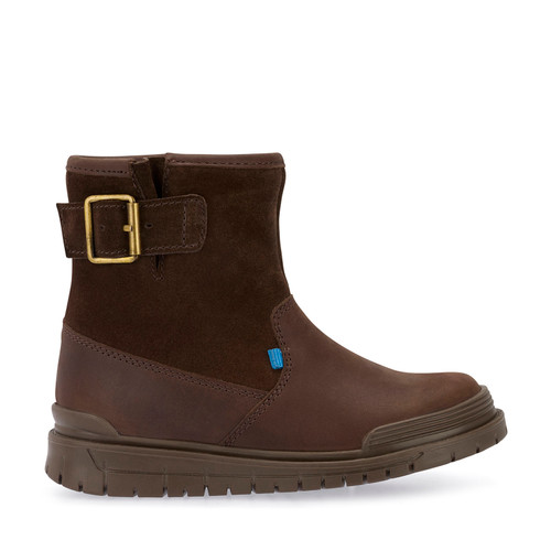 Rush, Brown Leather Girls Zip-up Boots 1702_0